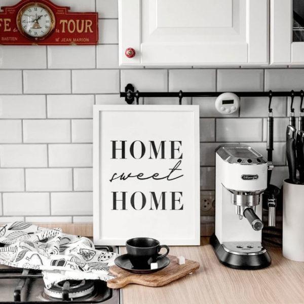 кухонный постер дом милый дом скандинавский стиль