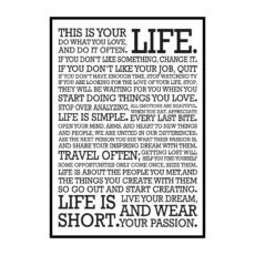 """Постер на стену """"This is your life"""""""