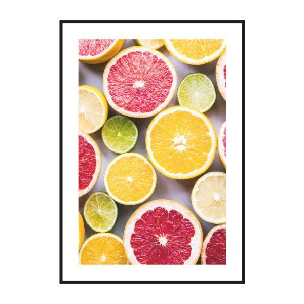 "Постер на стену скандинавский стиль ""Грейпфрут"