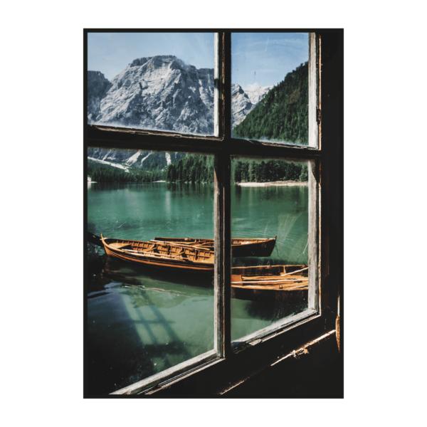 Постер на стену Вид из окна на озеро