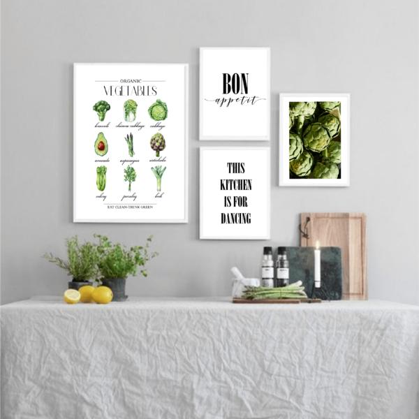 Галерея постеров Organic vegetables