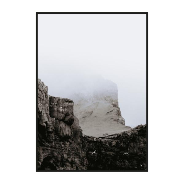 Постер на стену Гора в тумане