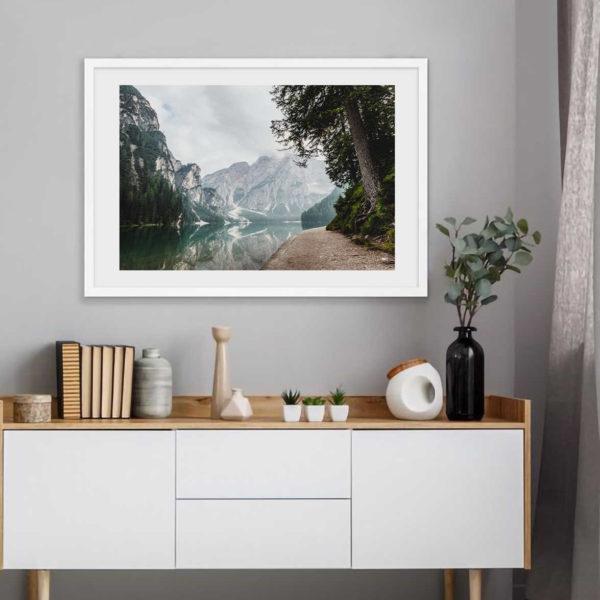 Постер на стену Горное озеро и лес