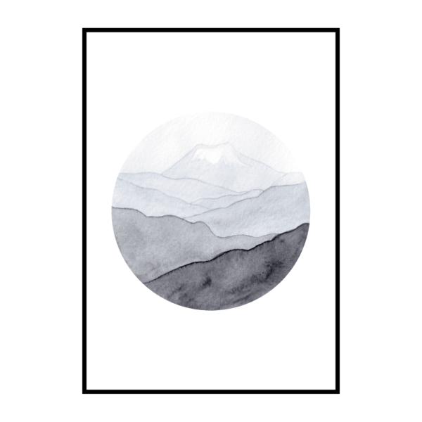 Постер на стену Горы