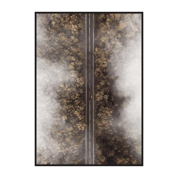 Постер на стену Дорога осенью вид сверху