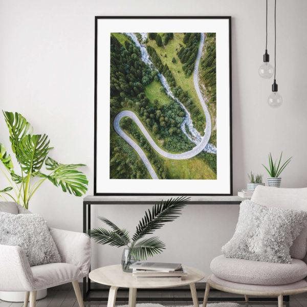 Постер на стену Дорога через лес