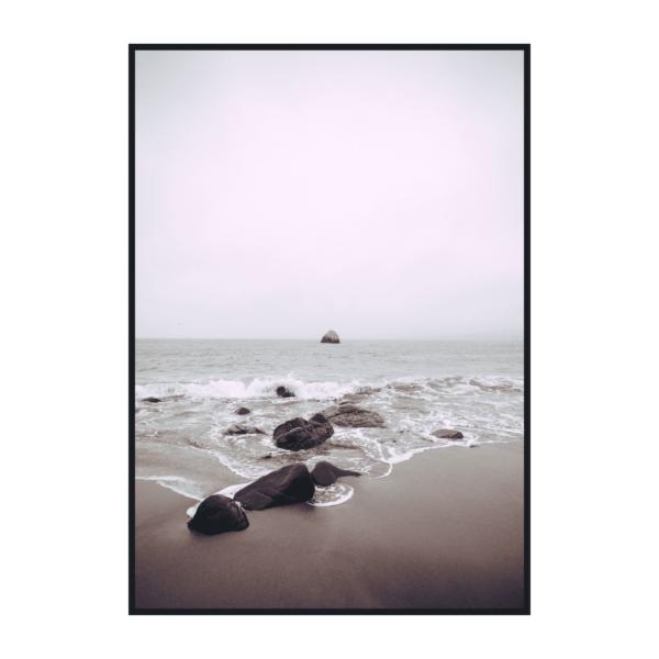 Постер на стену Камни на берегу