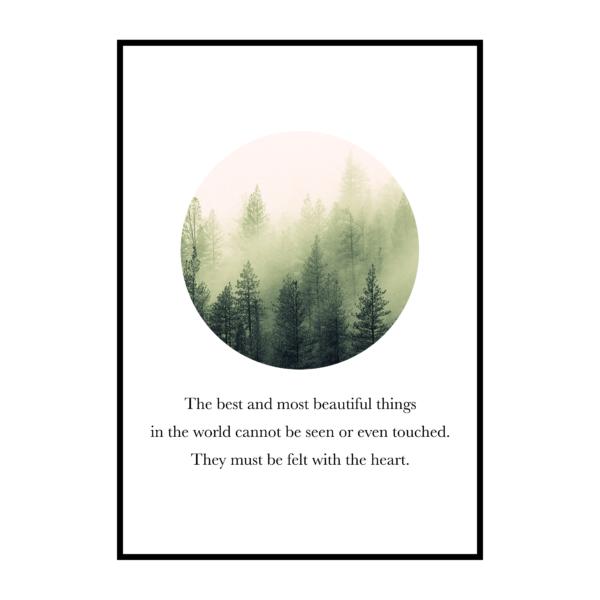 Постер на стену Лес в круге