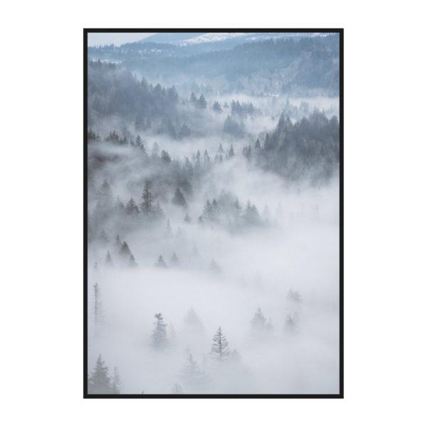 Постер на стену Лес в тумане 2