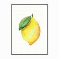 Постер на стену Лимон акварель