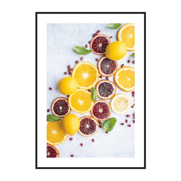 """Постер на стену """"Лимоны ассорти"""