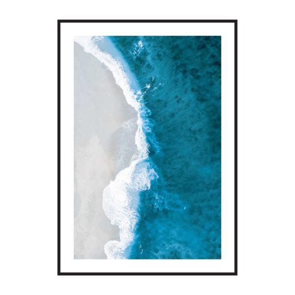 Постер на стену Синее море с пляжем