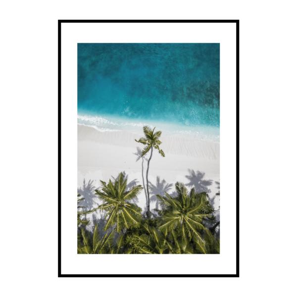 Постер на стену Бирюзовое море с пальмами