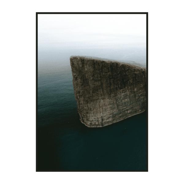 Постер на стену Обрыв у моря в тумане