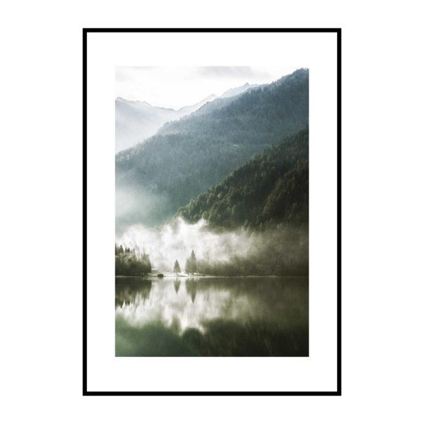 Постер на стену Озеро туман