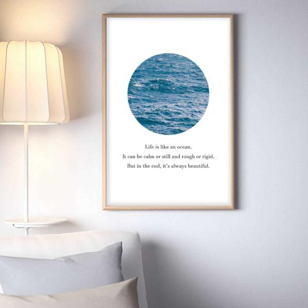 Постер на стену Океан в круге