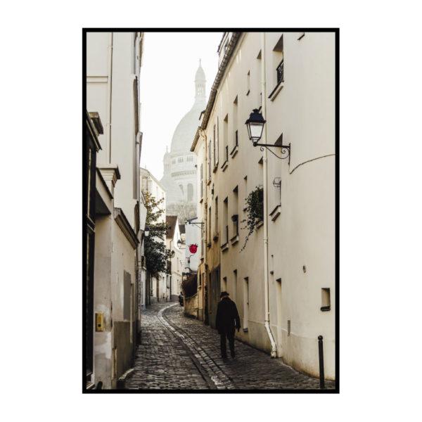 "Постер на стену ""Париж белая улица"""
