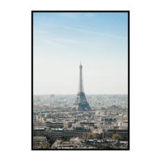 Постер на стену Париж голубой