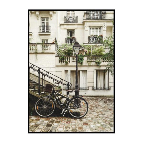 "Постер на стену ""Велосипед на улице Парижа"""