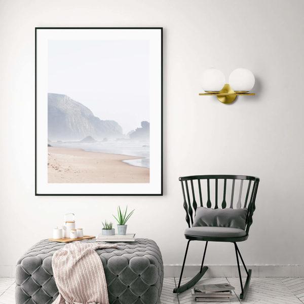 Постер на стену Пляж в тумане