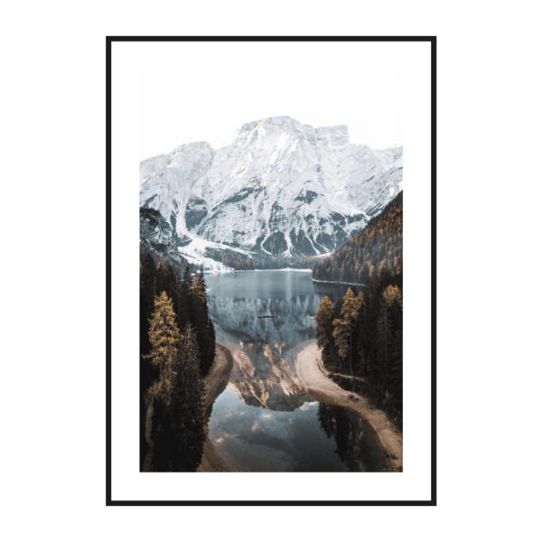 Постер на стену Вид на озеро Брайес