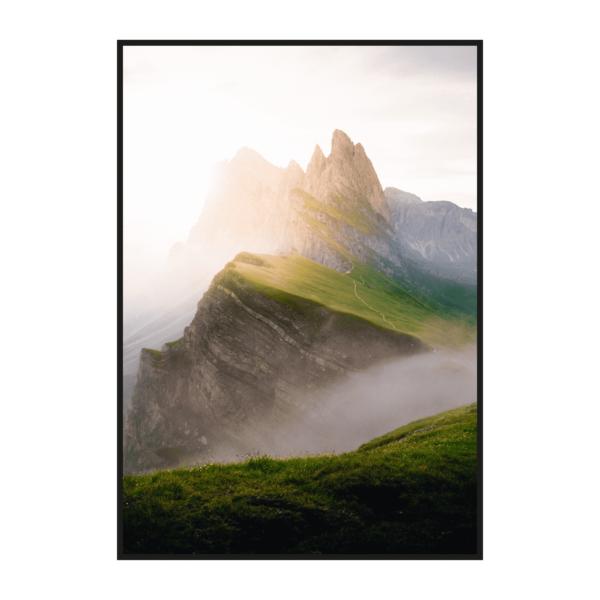 Постер на стену Горный рассвет