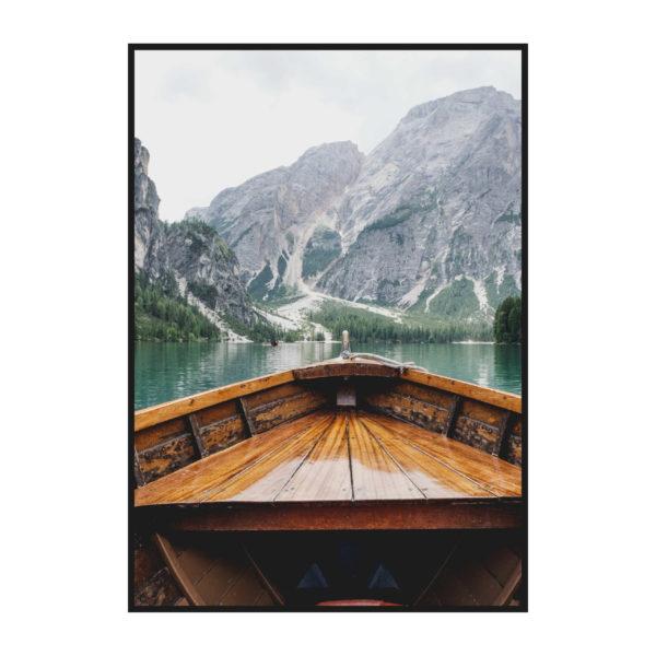 Постер на стену Лодка на озере Брайес