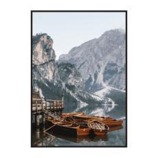 Постер на стену Лодки на озере Брайес