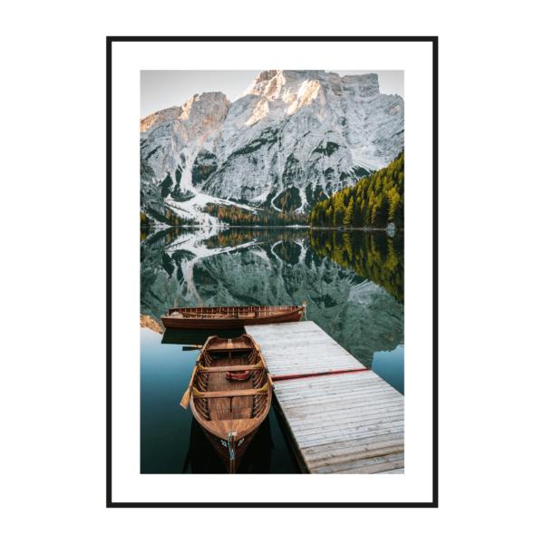 Постер на стену Лодки у пристани