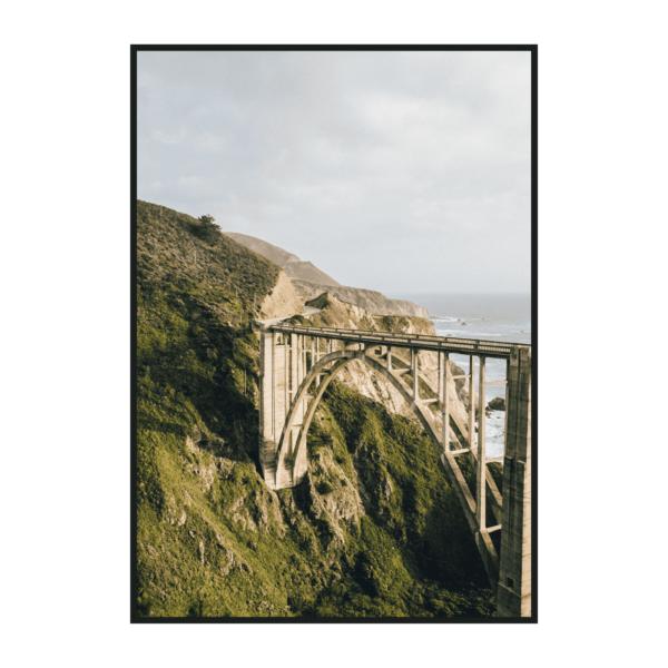 Постер на стену Мост на берегу океана
