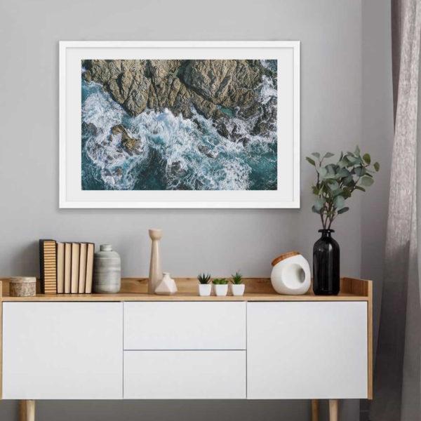 Постер на стену Скалы и волны скандинавский стиль