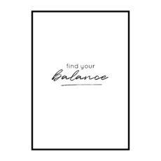 Постер на стену Find your balance