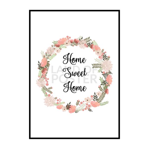 Постер на стену Home sweet home