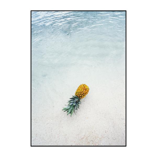 Постер на стену Ананас в море