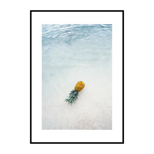 Постер на стену Ананас в море скандинавский стиль