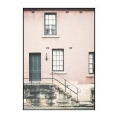 Постер на стену Розовая стена