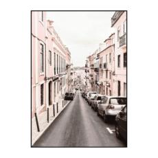 Постер на стену Розовый город 2