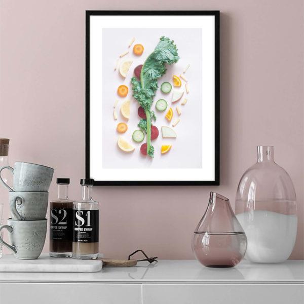 Постер на стену Розовое ассорти