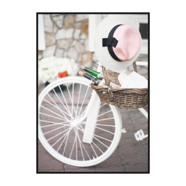 """Постер на стену """"Розовый велосипед"""