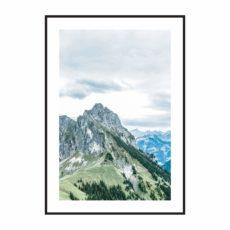 Постер на стену Сине-зеленые горы