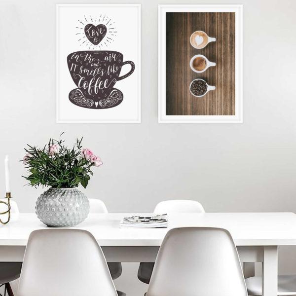 пара постеров кофе кофейня