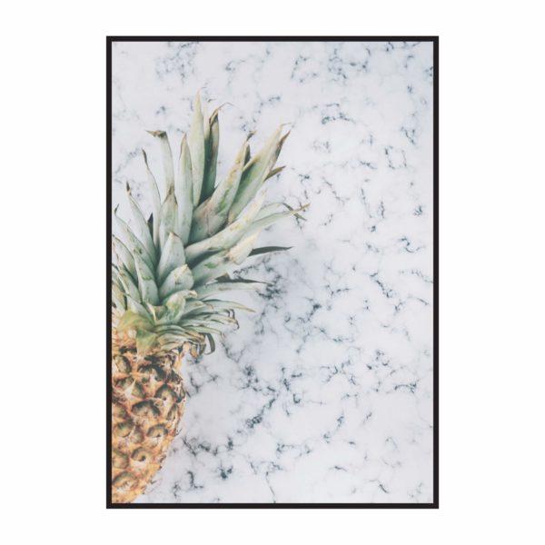 Постер на стену Ананас на мраморе