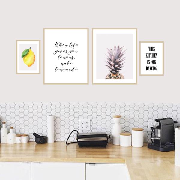 кухонный набор постеров 4 штуки