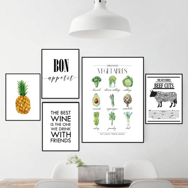 Галерея постеров Овощи с коровой