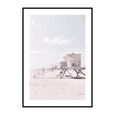 Постер на стену Пляж с будкой