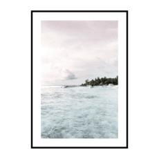 Постер на стену Море розово-голубое