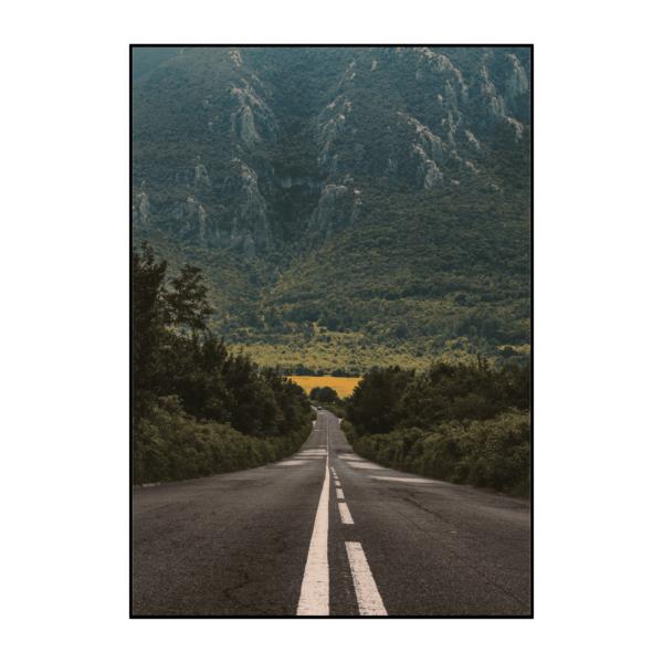 Постер на стену Дорога и горы