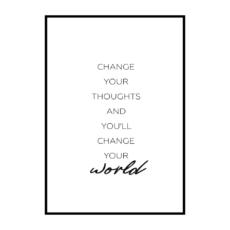 Постер на стену Change your Thoughts