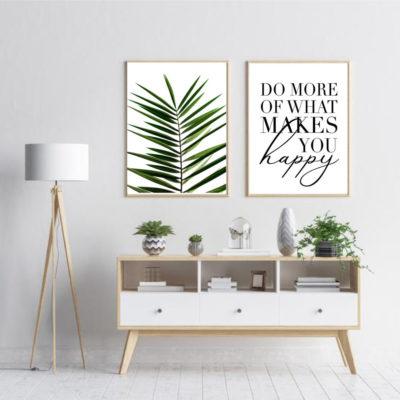 Пара постеров Лист пальмы do more happy