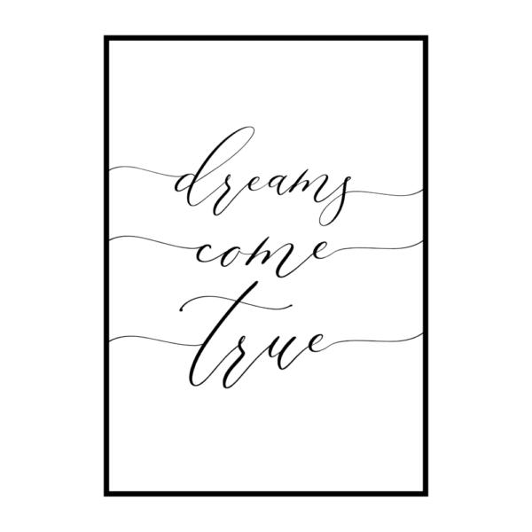 Постер на стену Dreams come true